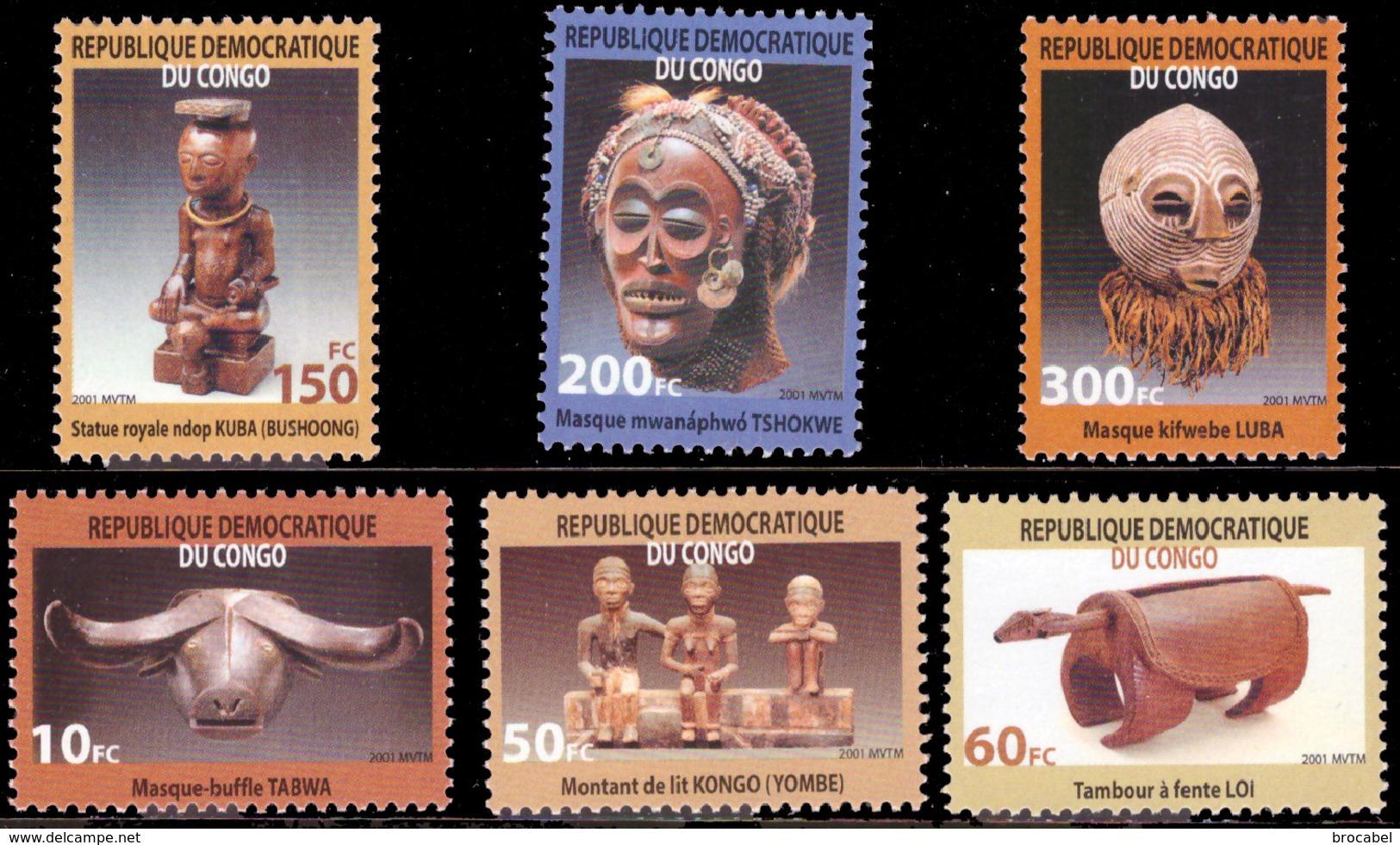 Congo 2099/04**  Masques - République Démocratique Du Congo (1964-71)