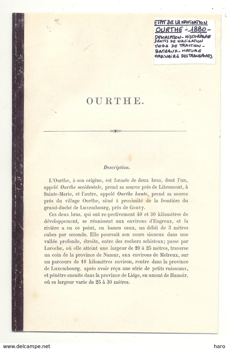 Article Relié De 1880 Concernant L'Ourthe (b239) - Belgium