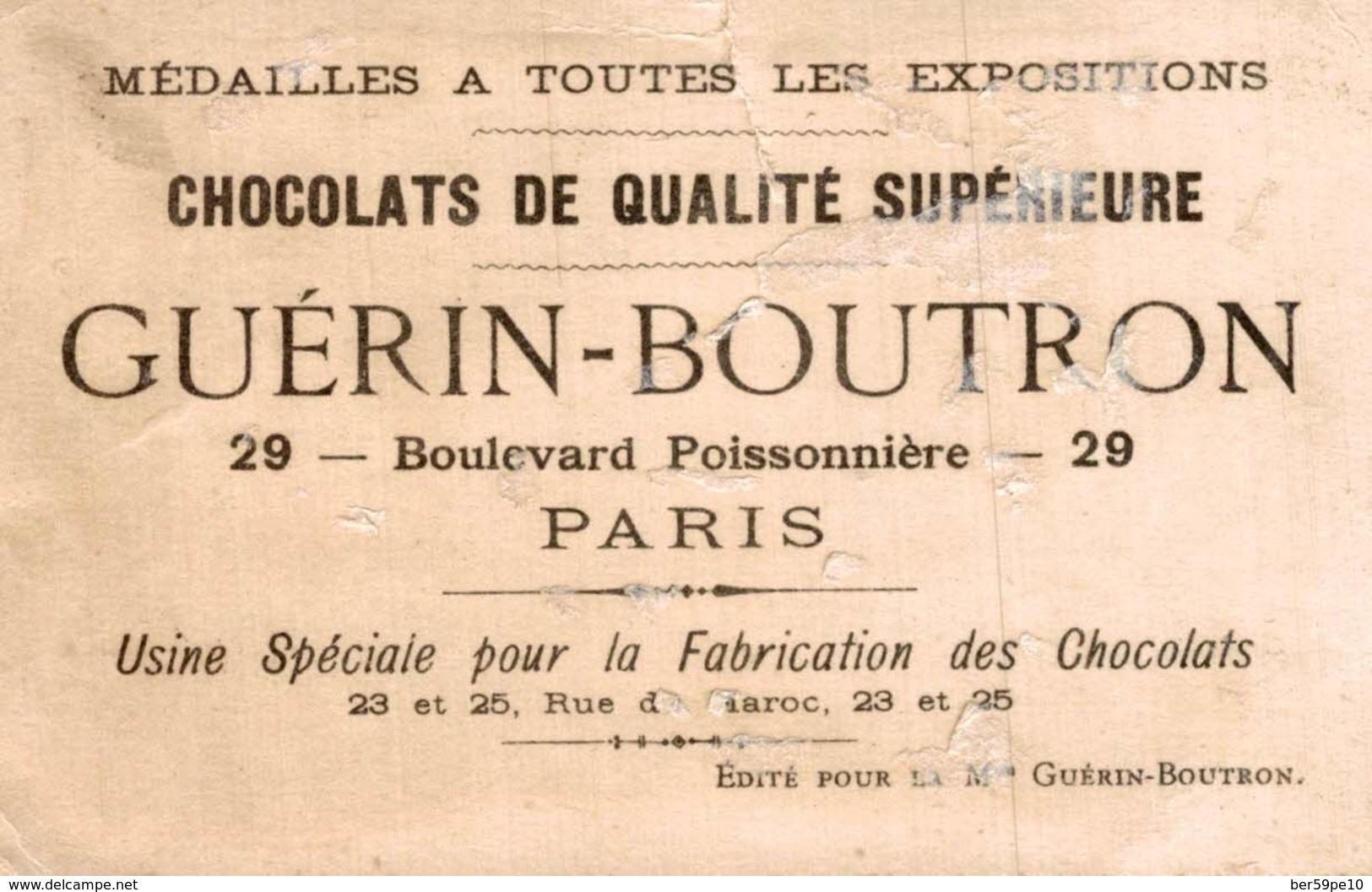 CHROMO CHOCOLAT GUERIN-BOUTRON PARIS  VOITURE DE DEMENAGEMENT - Guérin-Boutron