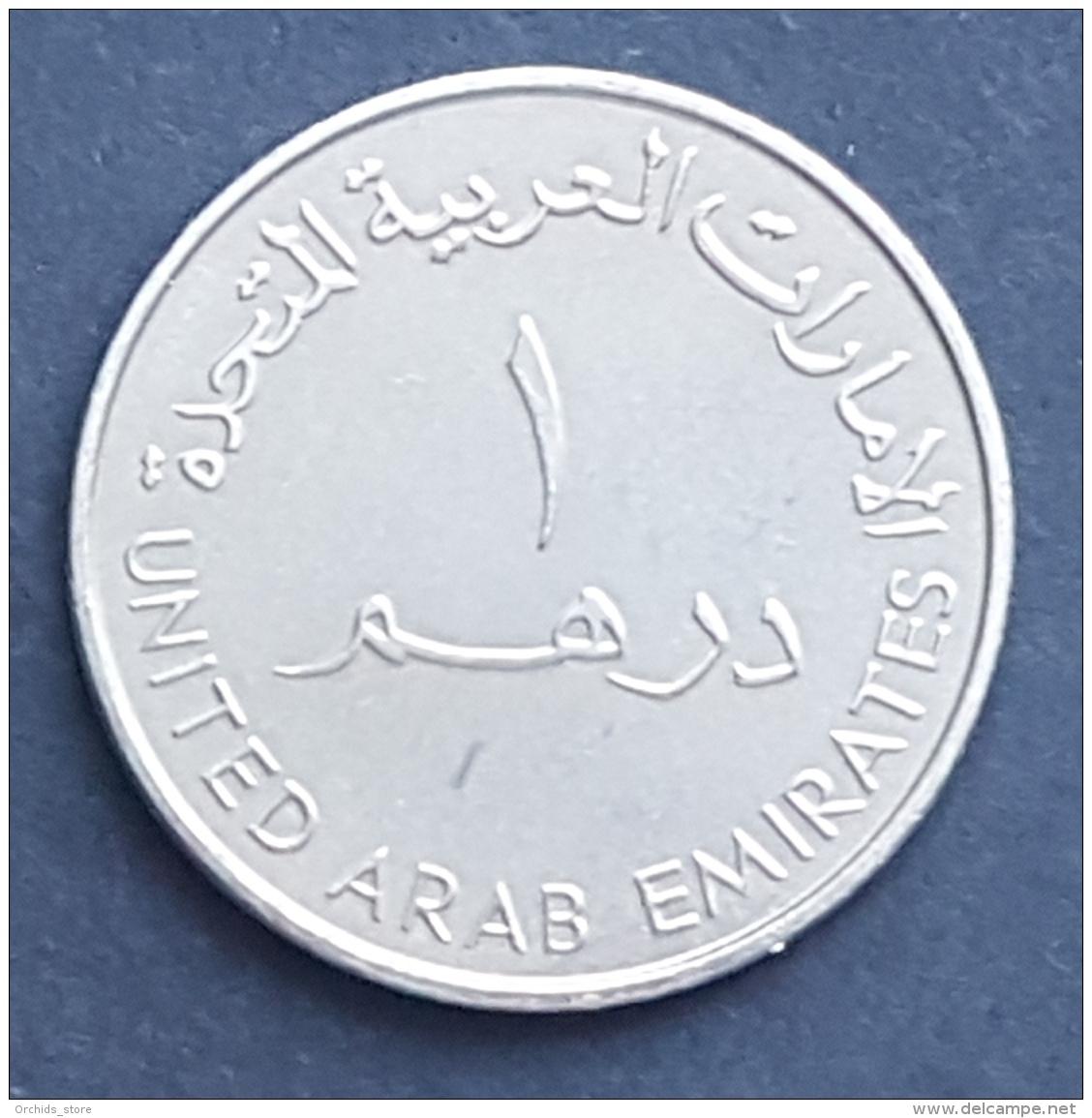 HX - UAE 2000 1 Dirham Coin UNC - 1975-2000 25 Years AL ISLAMI - Dubai Islamic Bank - Emirats Arabes Unis