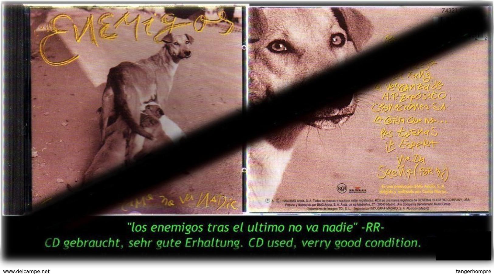 """""""LOS ENEMIGOS"""" TRAS EL ULTIMO NO VA NADIE - 1994 - -RR- - Hard Rock & Metal"""