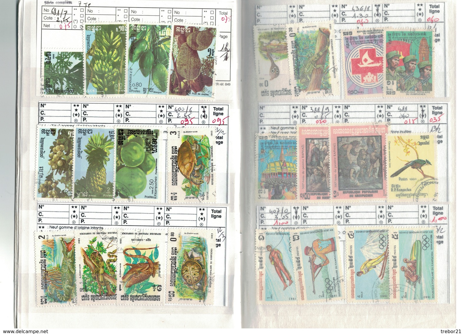 Carnet INDOCHINE , CANTON, KAMPUCHEA - Cote Yvert 167 € - Stamps