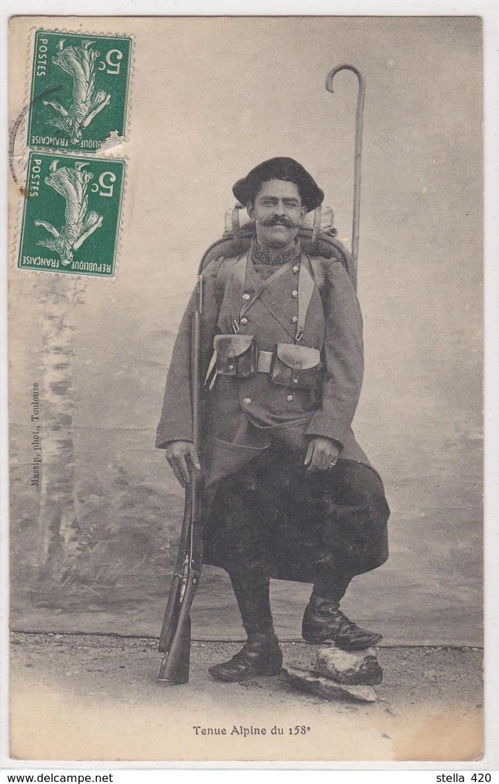 Chasseurs Alpin  Tenue Alpine  Du 158 Eme - Guerre 1914-18