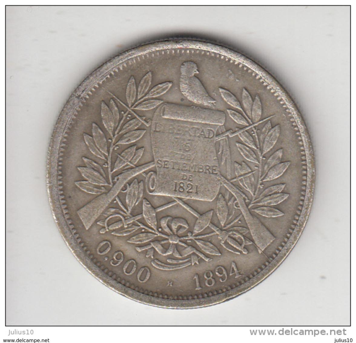 GUATEMALA 1894 UN PESO Replica (?) Read Description  #19932 - Guatemala