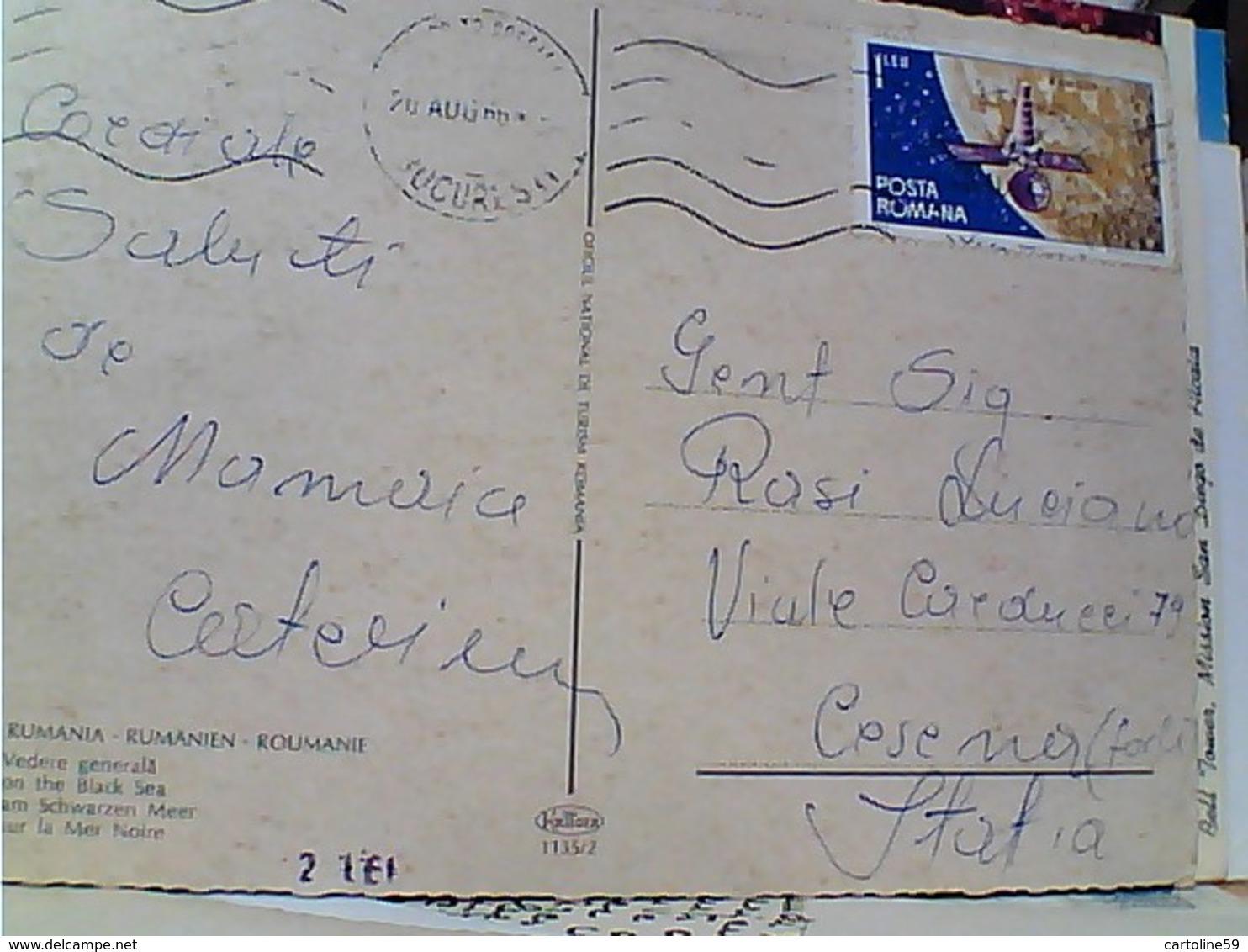 ROMANIA MAMAIA MAR NERO  STAMP TIMBRE  SELO 1 LEU SPAZIO  SPACE SATELLITE RANGER 1966 GX5637 - Romania