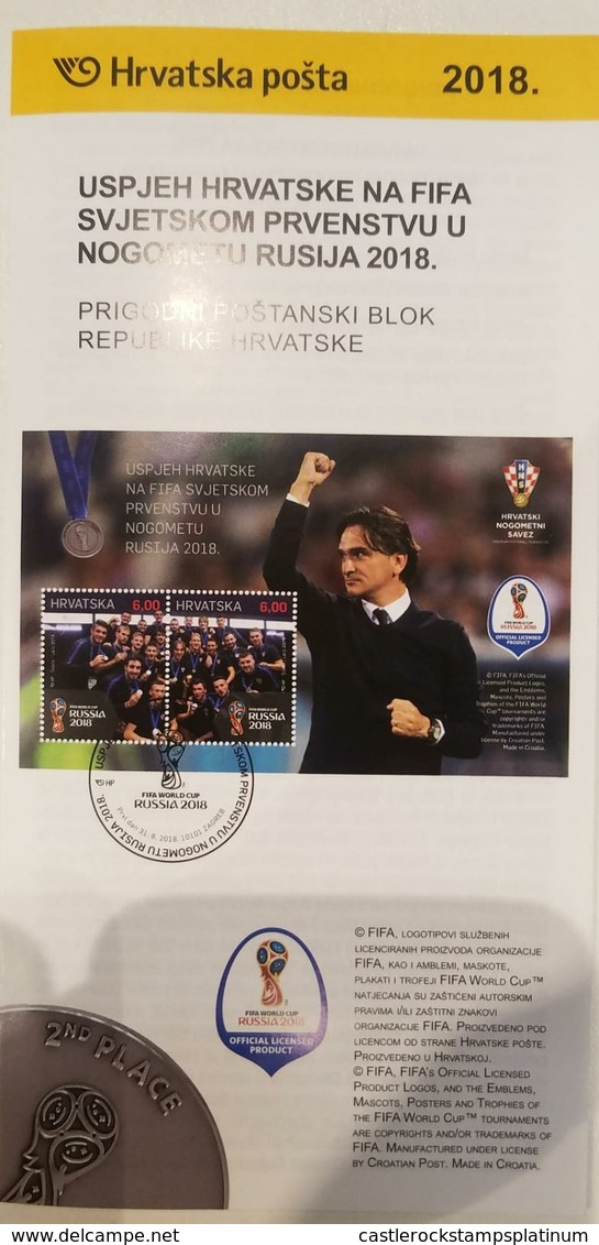 O) 2018 CROATIA. FIFA -SOCCER  WORLD CUP RUSSIA 2018 -FOOTBALL -SPORT. FDB,XF - Croatia