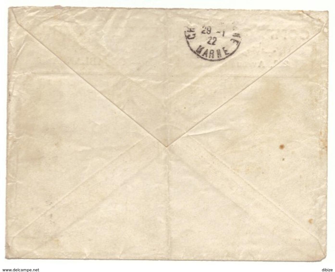 Lettre Commerciale Maroc Vers France 1922. Timbre Pour Poste Aérienne N° 4. Jolie Cote. Cachets Maroc Et France - Morocco (1891-1956)