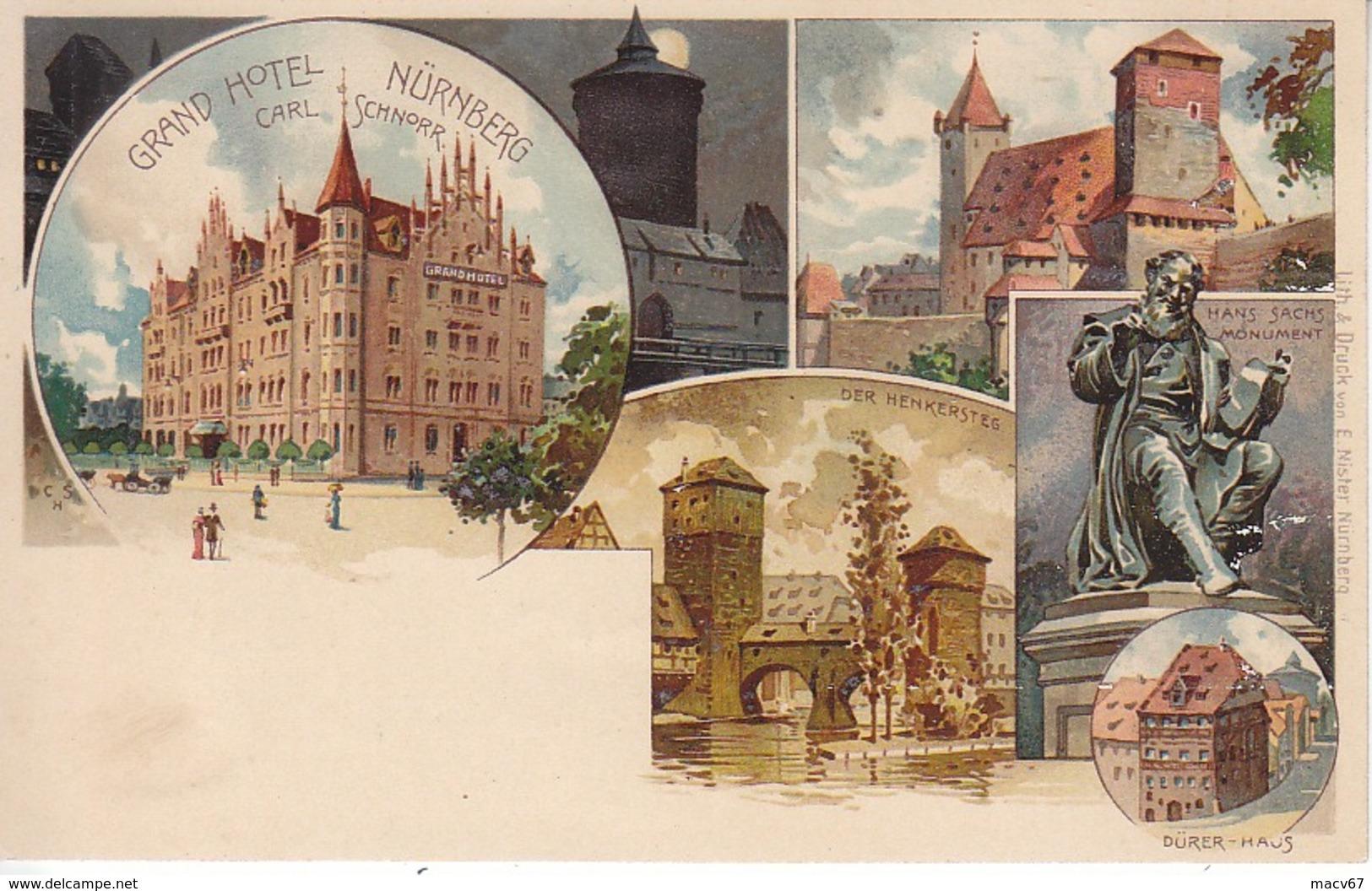 GRAND  HOTEL  NURNBERG  *  MINT  UNUSED - Nuernberg