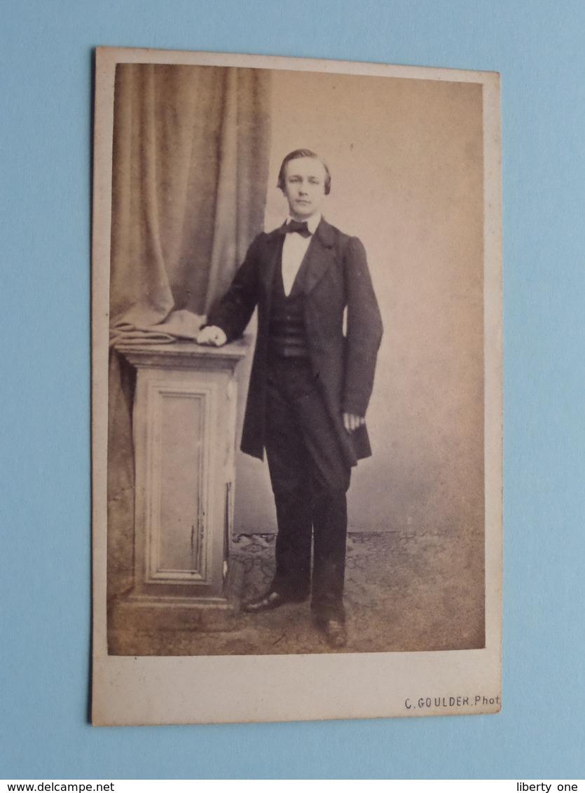 HOMME - MAN - MANN - HOMBRE ( Old / Vieux CDV Photo : C. GOULDER Anvers Belgique ) +/- 1900 ! - Photos