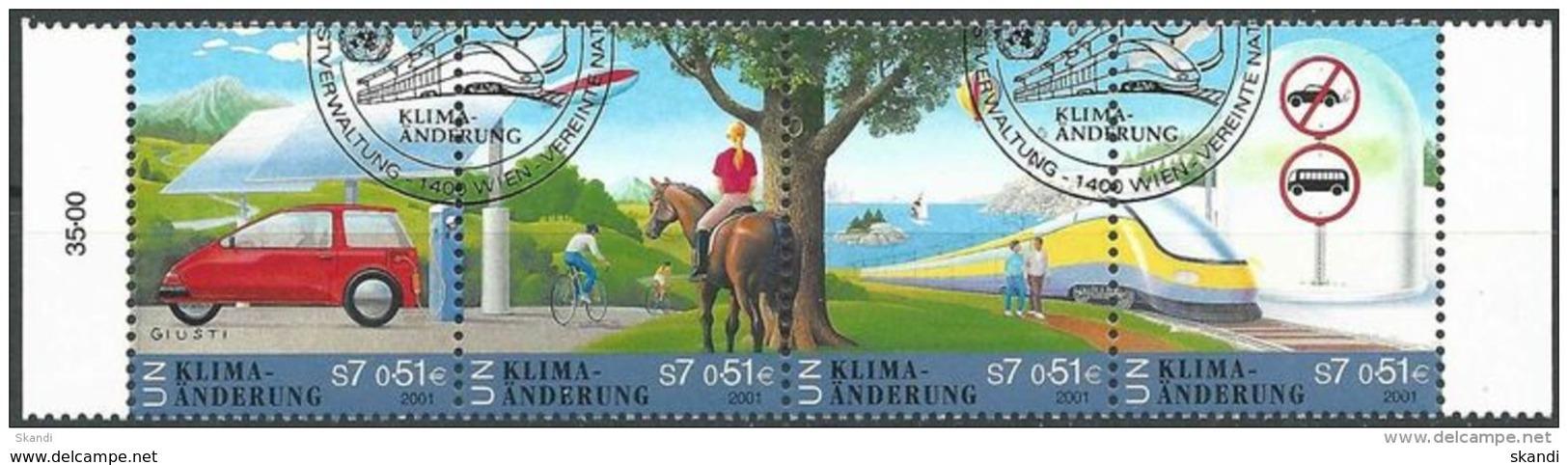 UNO WIEN 2001 Mi-Nr. 346/49 O Used - Aus Abo - Wien - Internationales Zentrum