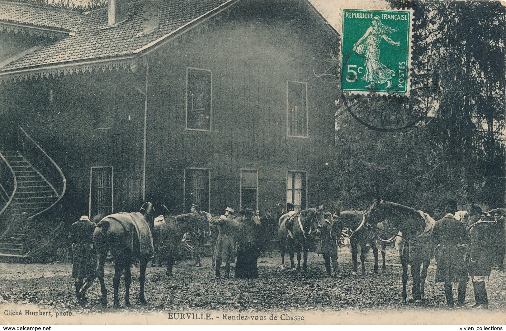 Eurville (52 Haute Marne) Rendez Vous De Chasse - Chasse à Courre - Phot. Humbert Circulée 1912 - Autres Communes