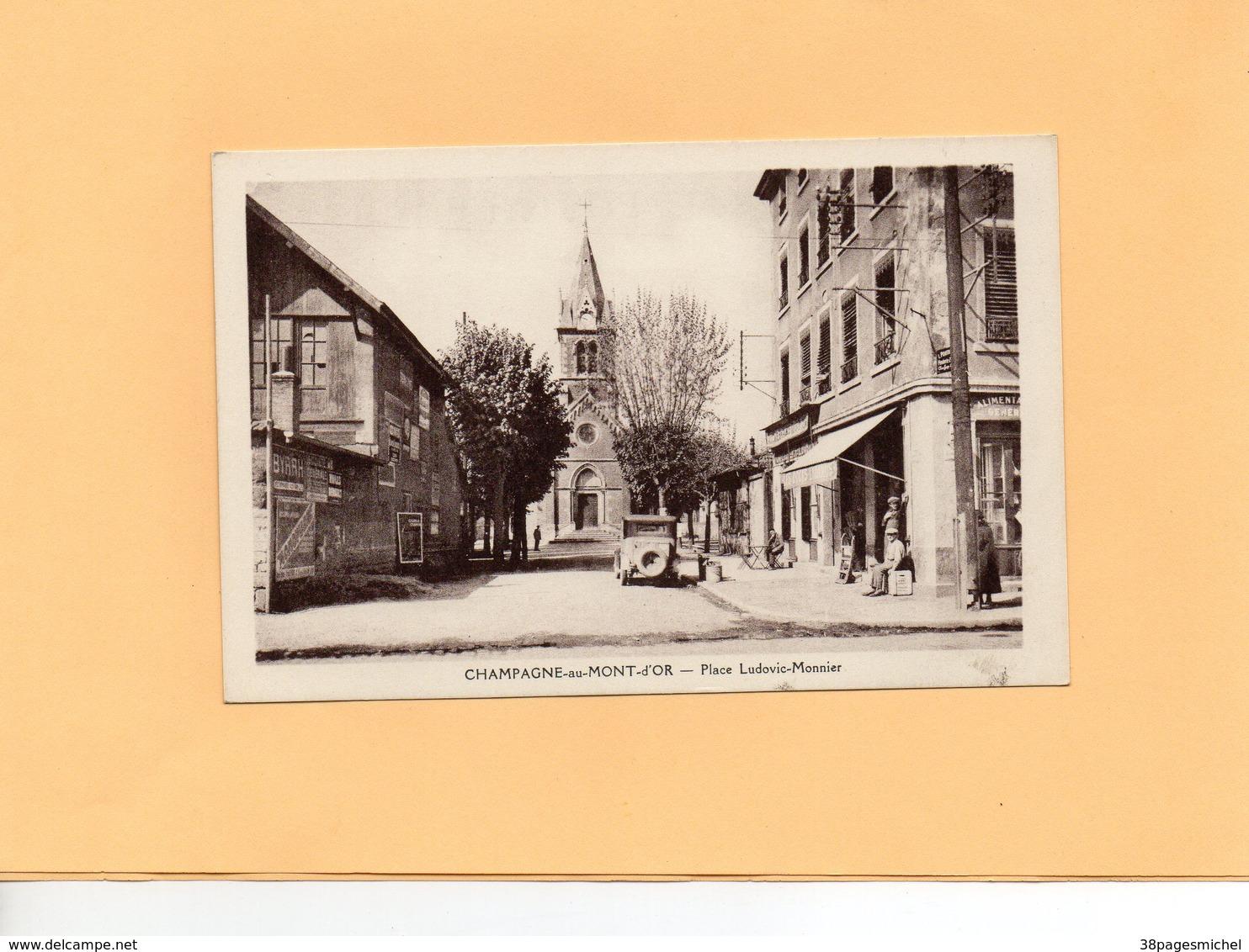 Carte Postale - CHAMPAGNE Au MONT D'OR - D69 - Place Ludovic Monnier - Autres Communes