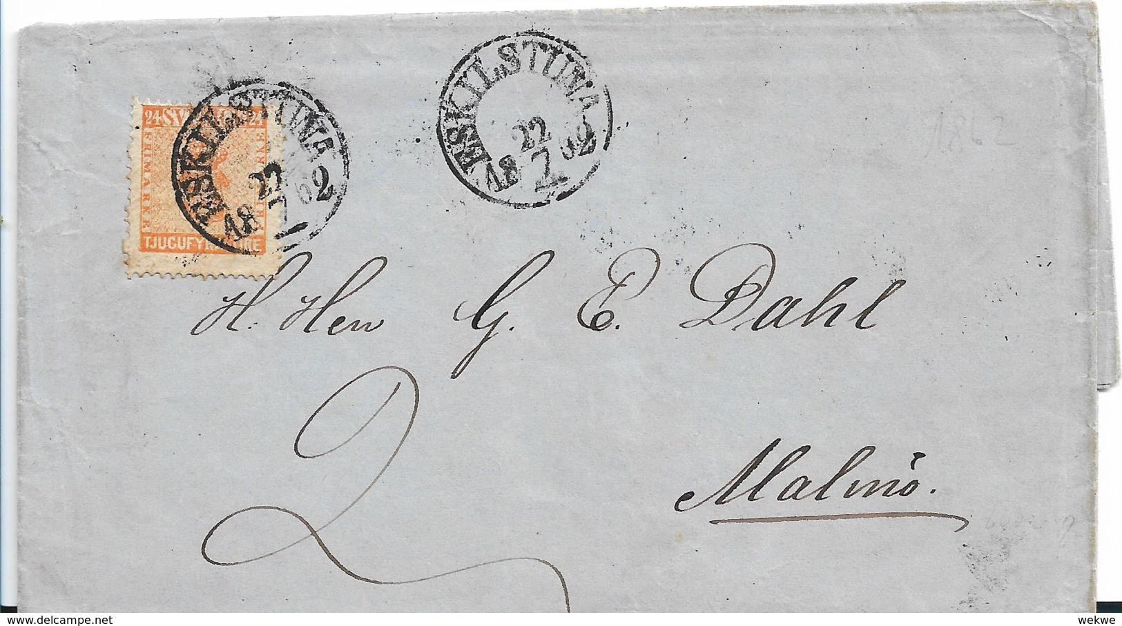 Sch247 / Schweden, Eskilstuna Nach Malmö, 8 Skill Ausgabe 1857 - Schweden