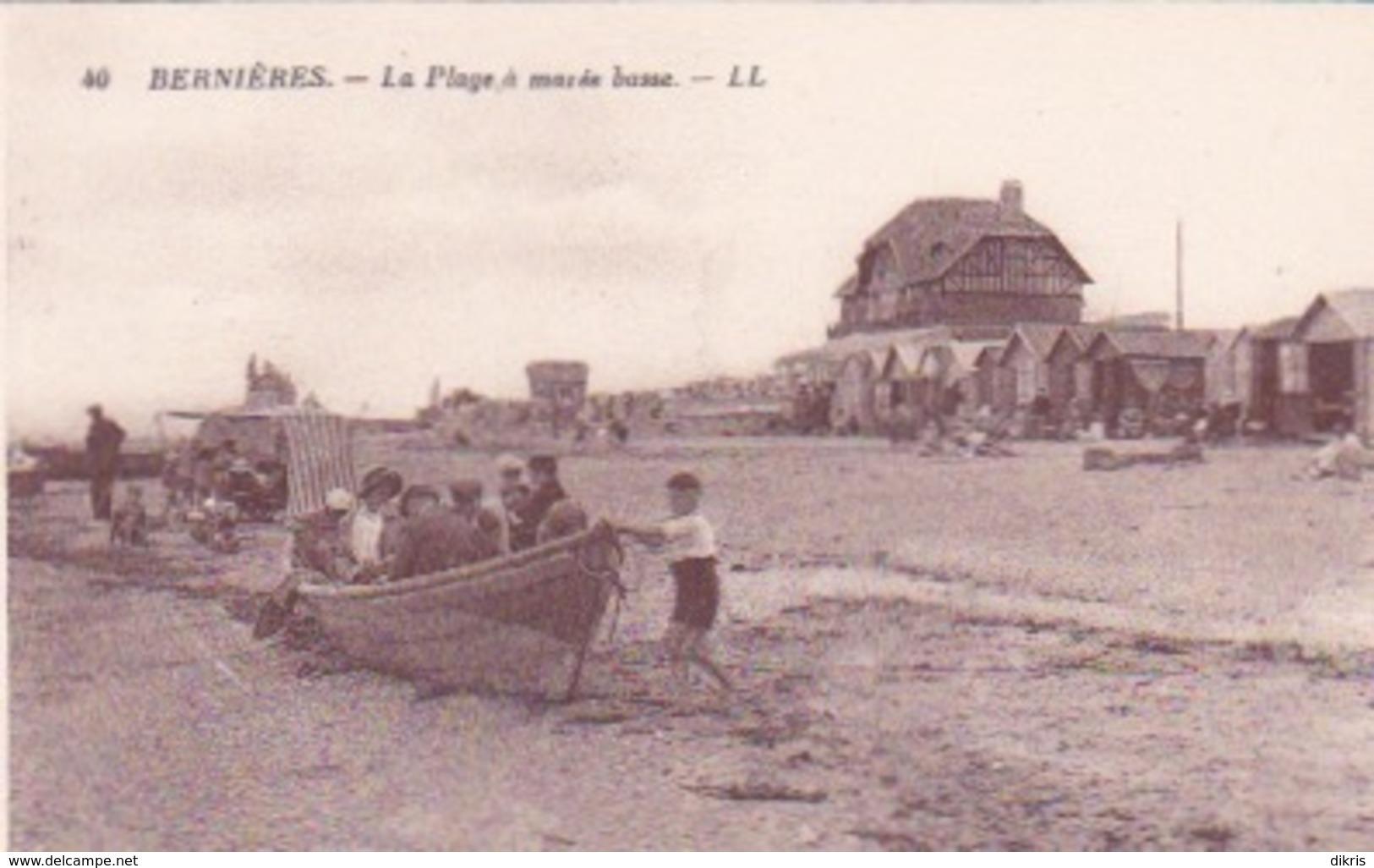 14-BERNIÈRES- LA PLAGE À MARÉÉ BASSE - Frankrijk