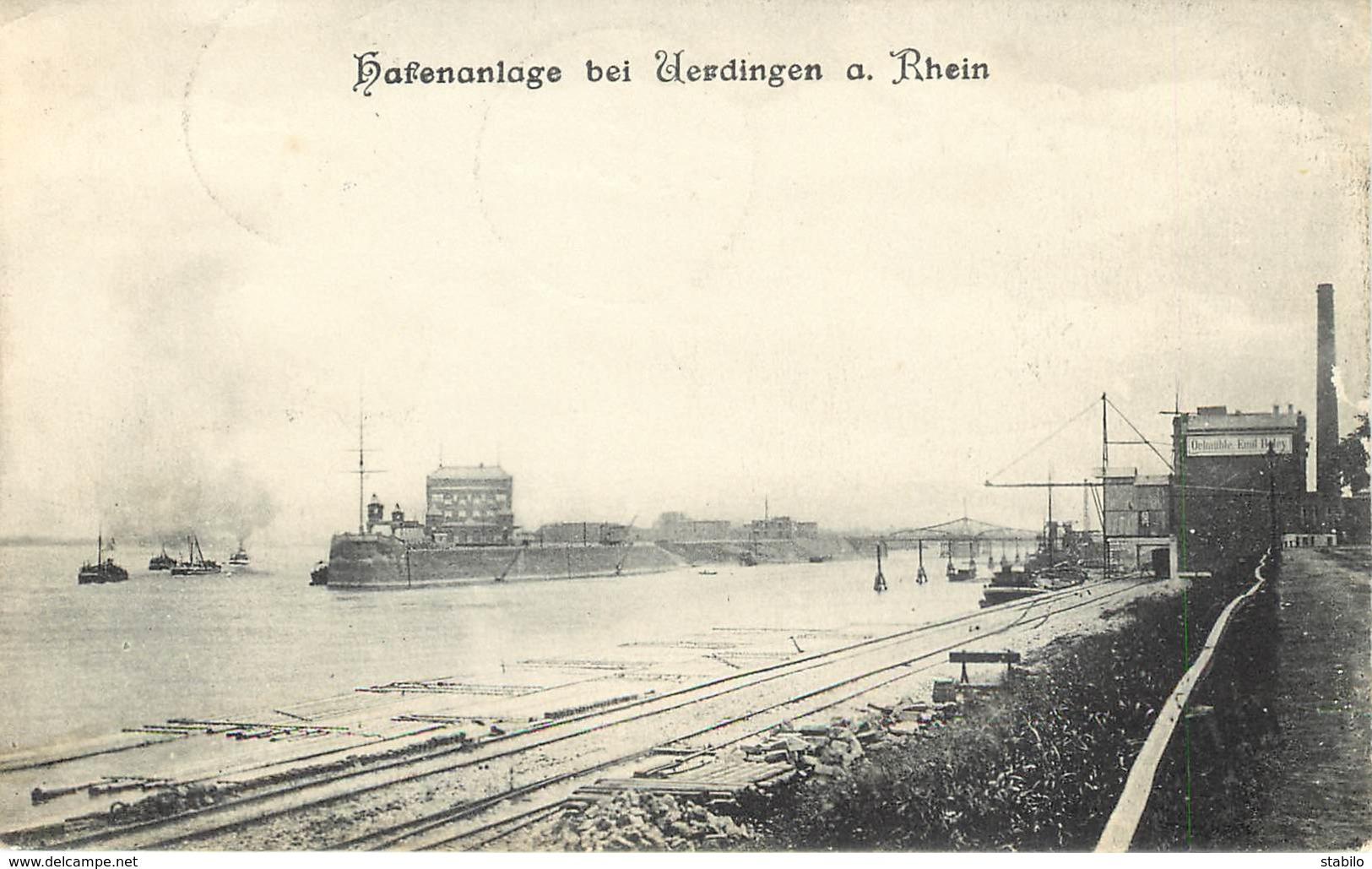 ALLEMAGNE - UERDINGEN - HAFENANLAGE - Allemagne