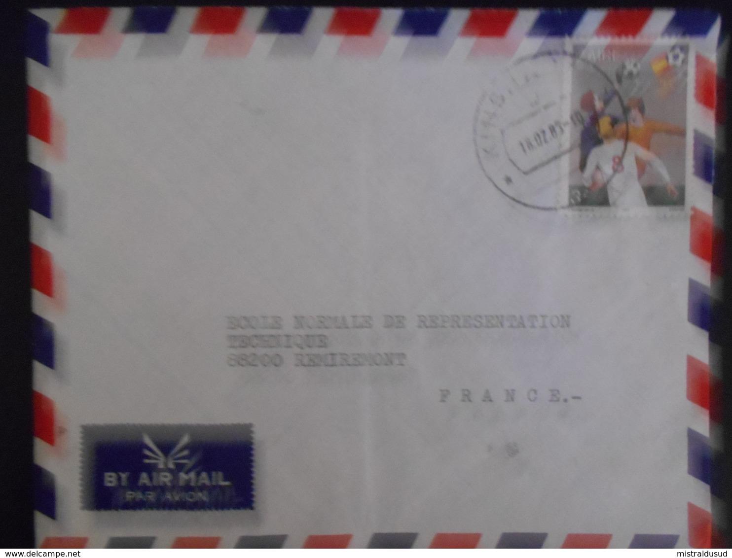 Zaire Lettre De Kinshasa 1983 Pour Remiremont - Zaïre