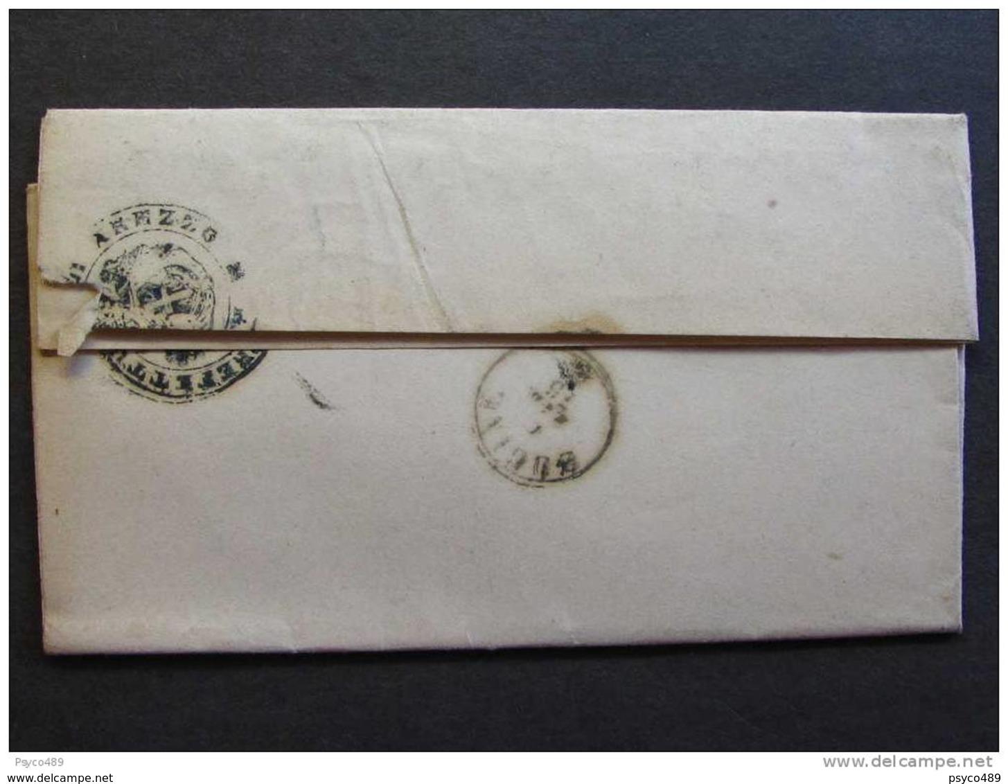 """4541 ITALIA Regno-1875- """"Servizio Di Stato"""" C. 0,20 AREZZO>BUCINE (descrizione) - 1861-78 Vittorio Emanuele II"""