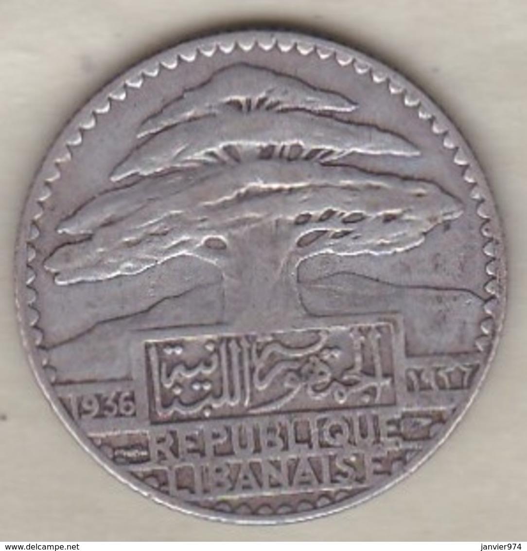 LIBAN / LIBANON. 25 PIASTRES 1936 . ARGENT - Liban