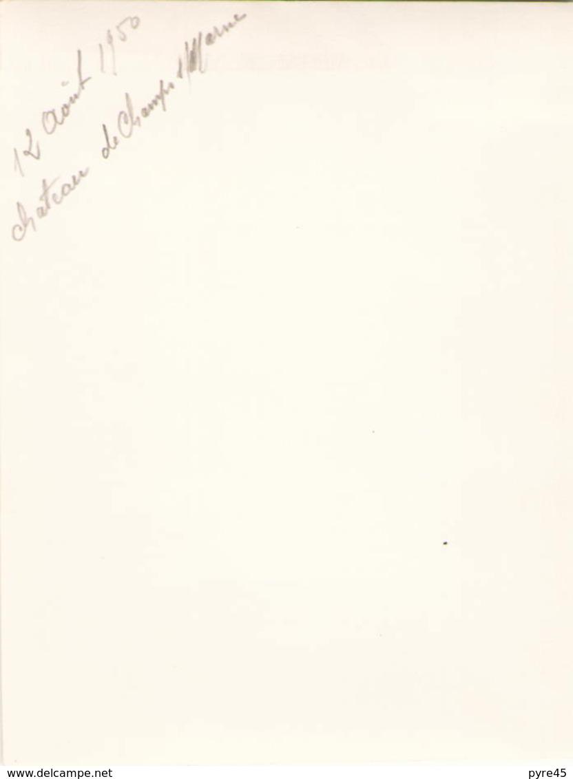 PHOTO DU CHATEAU DE CHAMPS SUR MARNE 1950 12 X 9 CM - Lieux