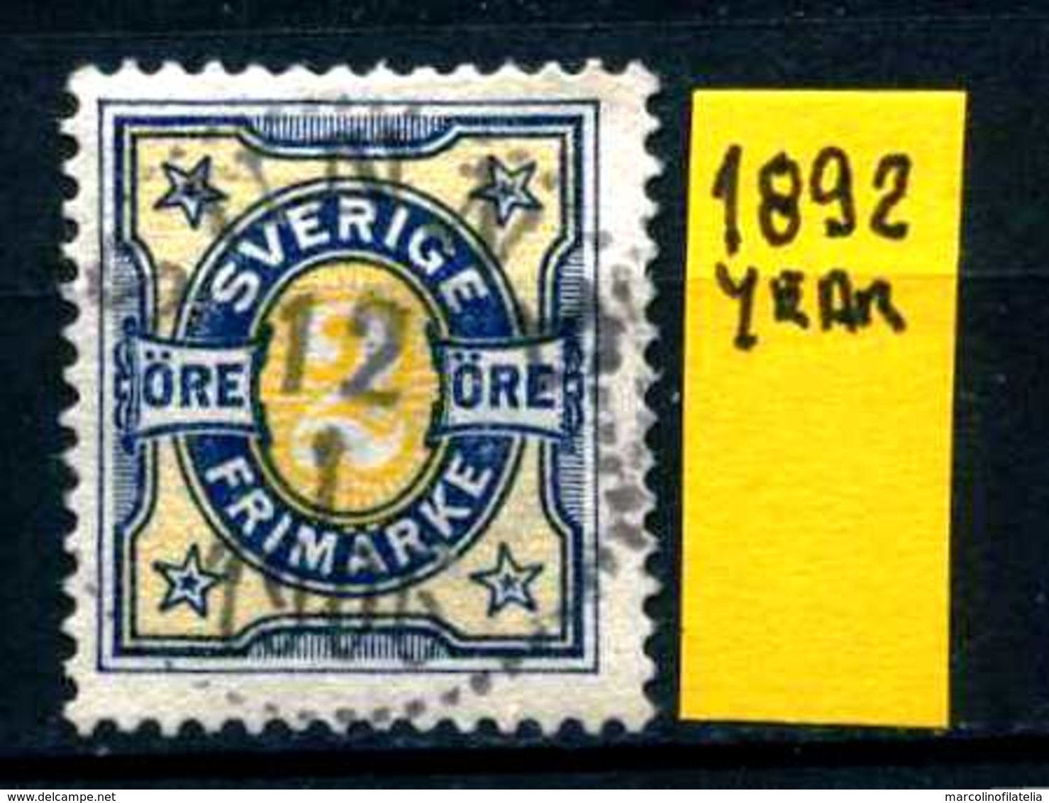 SVEZIA - SVERIGE - Year 1892 - Usato - Used - Utilisè - Gebraucht. - Usati