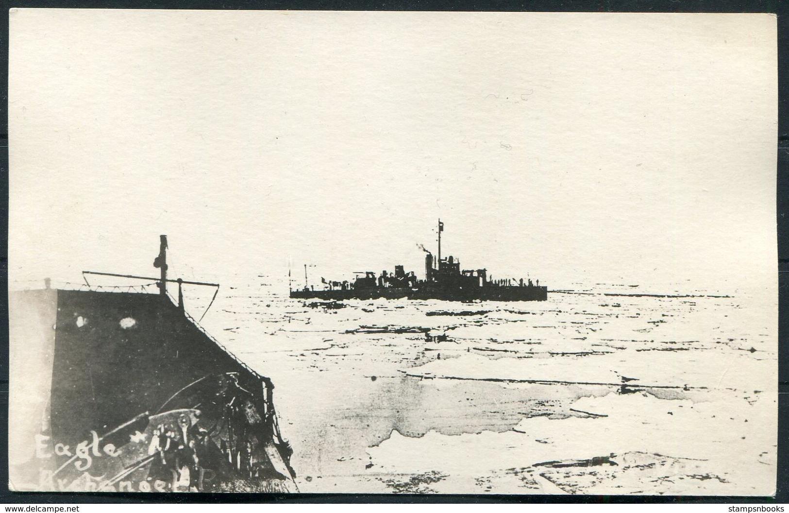 Arctic Ship EAGLE (Alaska?) Postcard - Warships