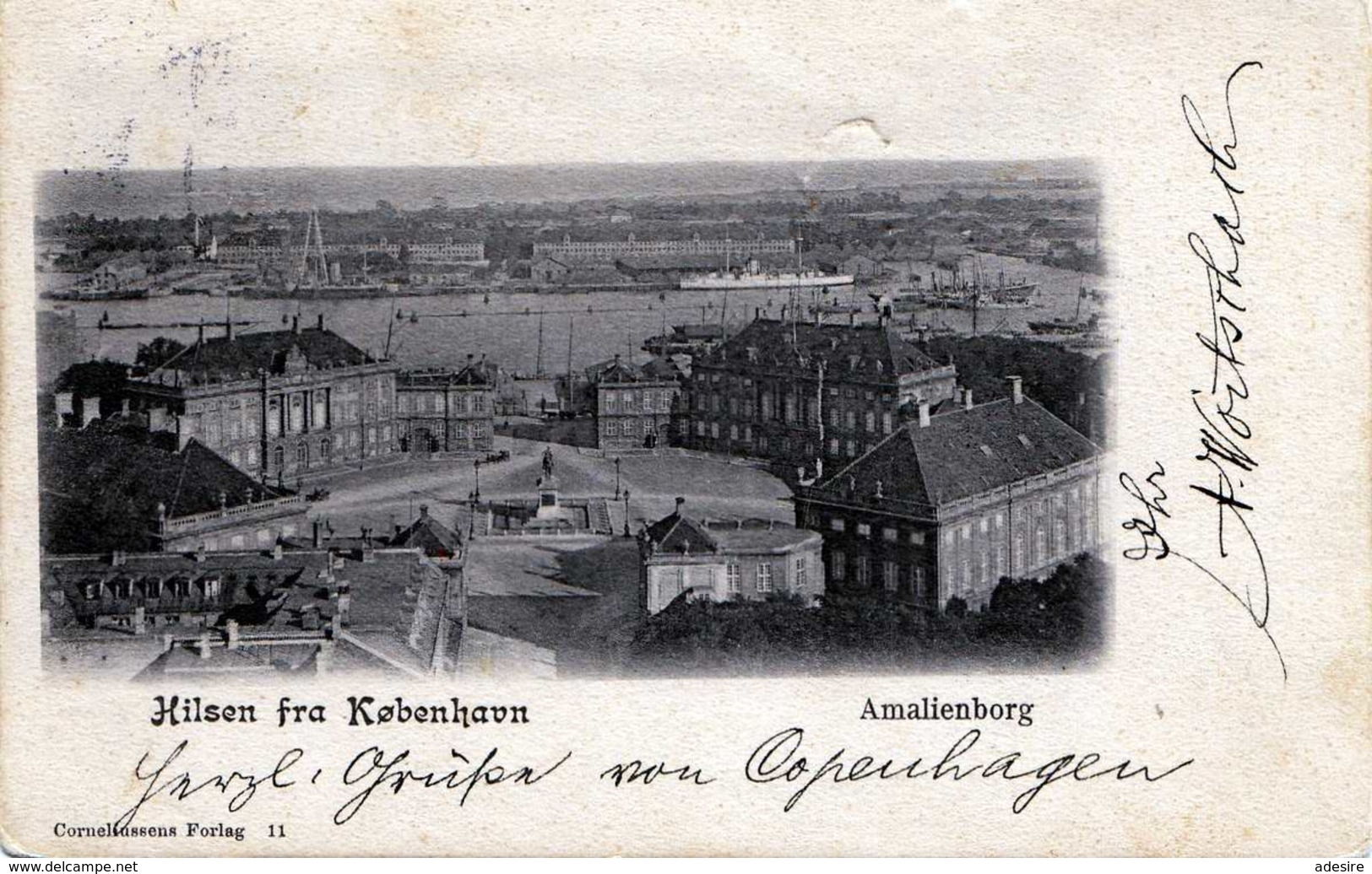 Hilsen Fra KOBENHAVN - Amalienborg, Gel.1904 Von Kjobenhavn Nach Graz - Dänemark