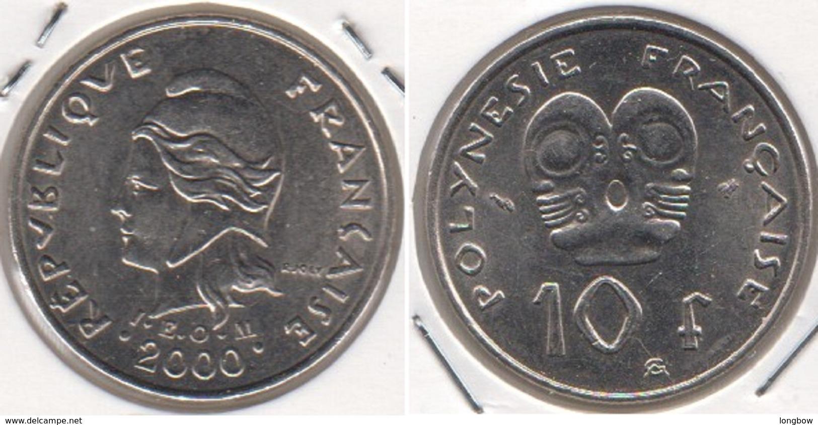Polinesia Francese 10 Francs 2000 KM#8 - Used - Polynésie Française
