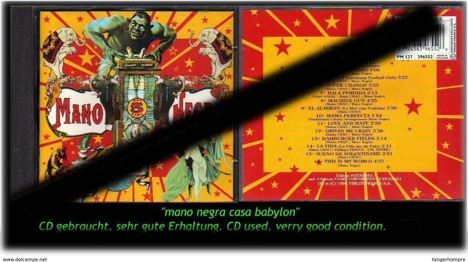 """MANO NEGRA"" CASA BABYLON -1994- - Hard Rock & Metal"