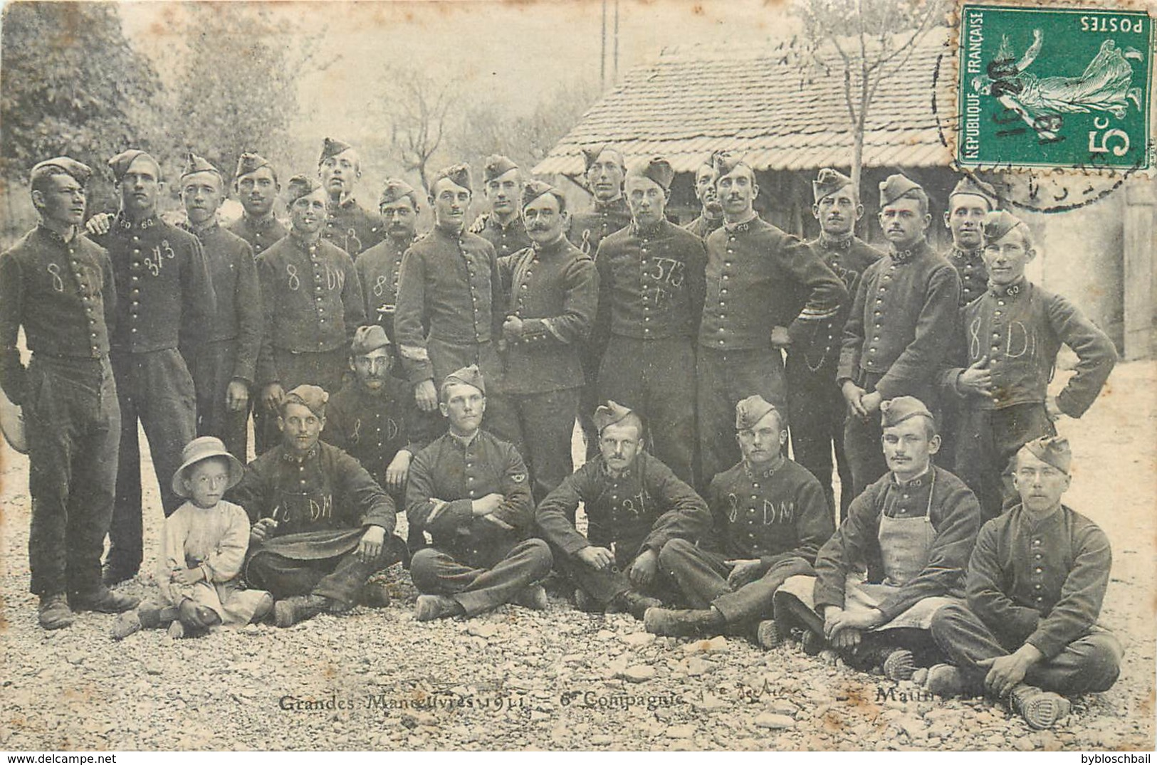 Grandes Manoeuvres 1911 6e Compagnie 1re Section Soldats DM 378 8 Militaria - Manovre