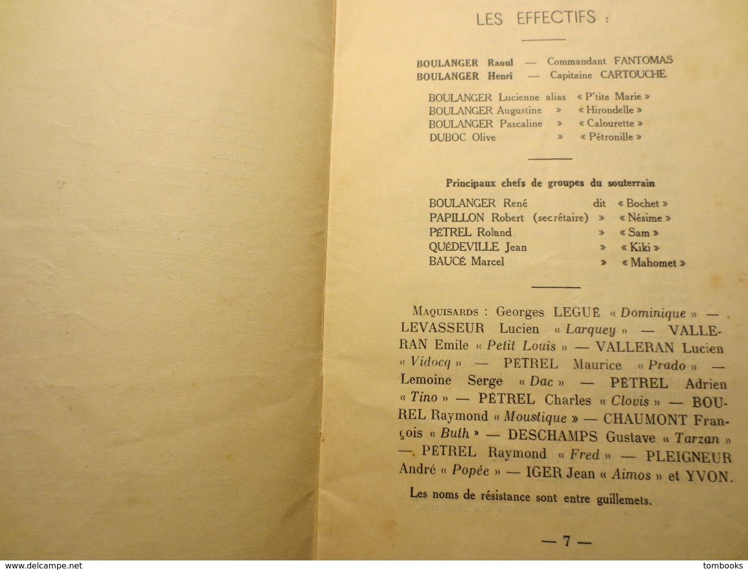 76 - Ry - Plaquette - Résistance - Le Maquis Des Diables Noirs - WW2 - René Vérard - 1950 - RARE - - War 1939-45