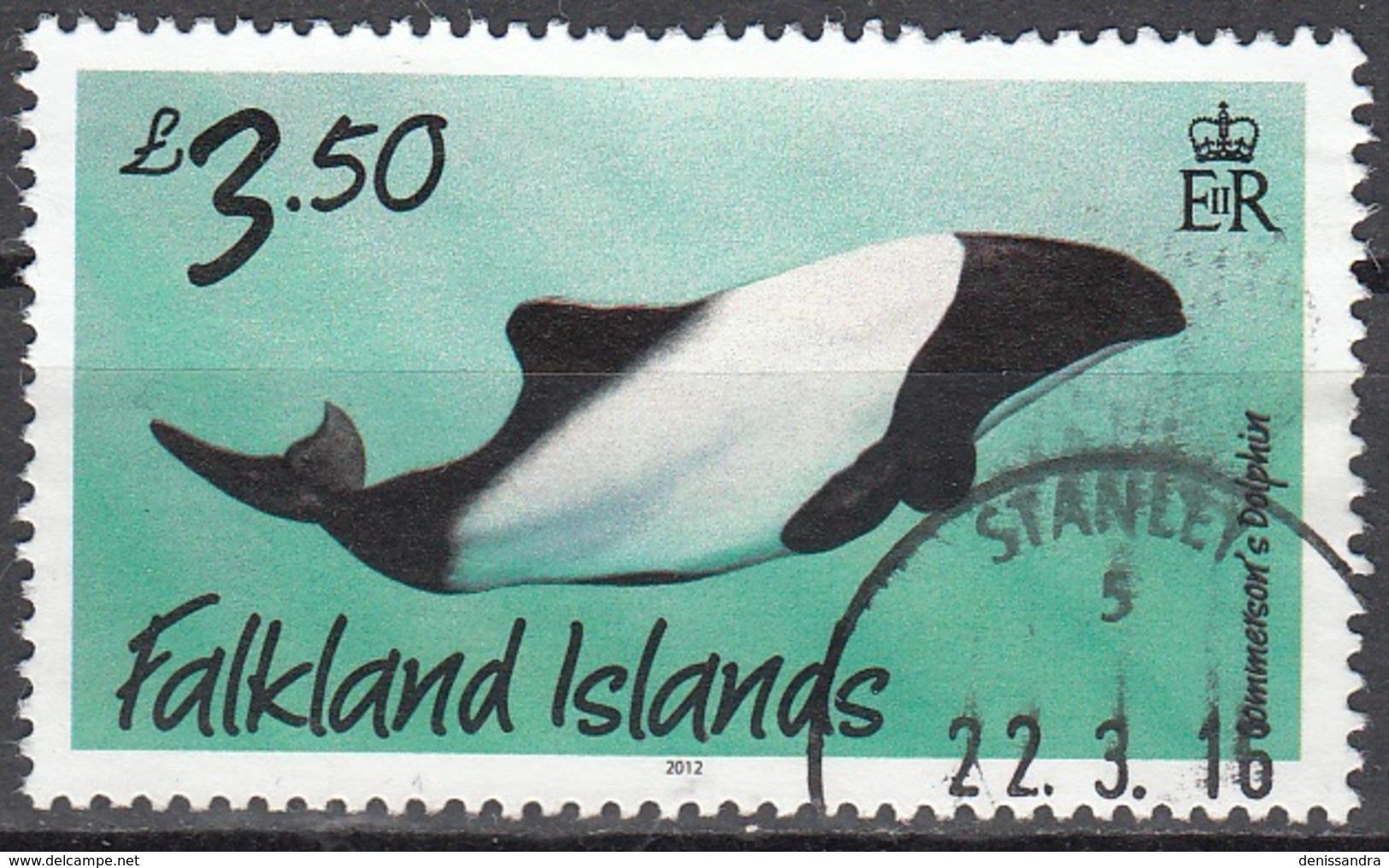 Falkland Islands 2012 Dauphin O Cachet Rond - Falkland