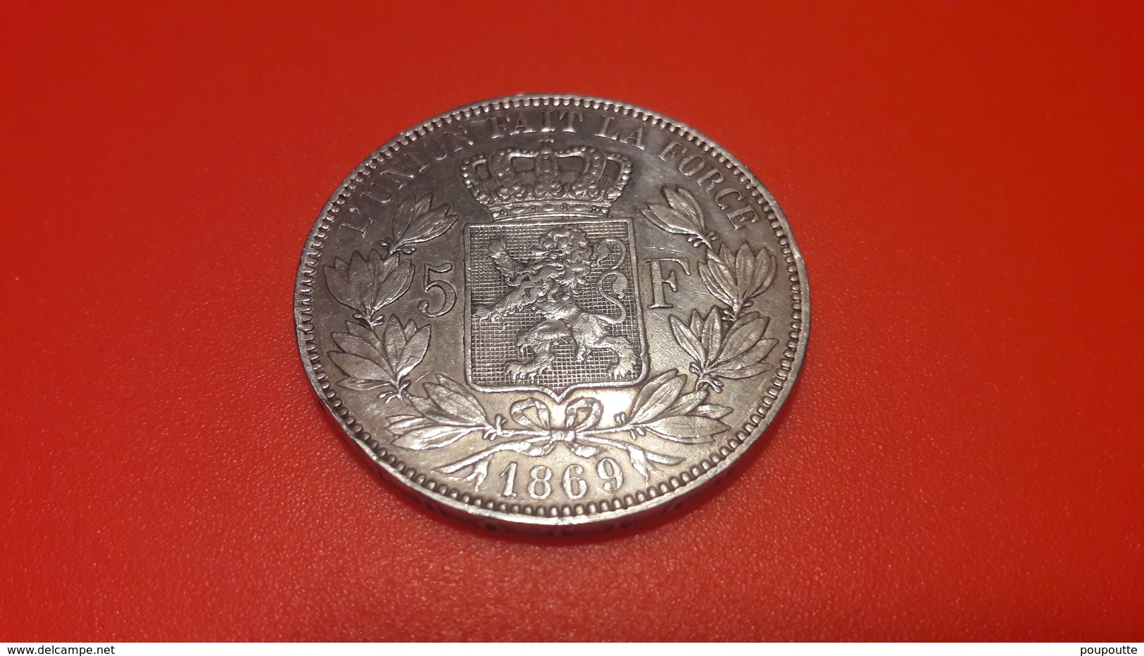 LEOPOLD II. 5 Frs Argent 1969 - 1865-1909: Leopold II