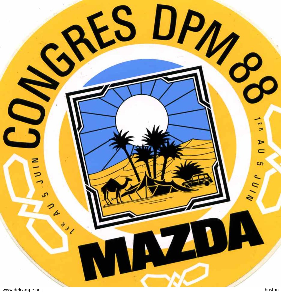 MAZDA - Congrès  D P M JUIN 1988, Dans Le Désert, Chameau 4L - Stickers