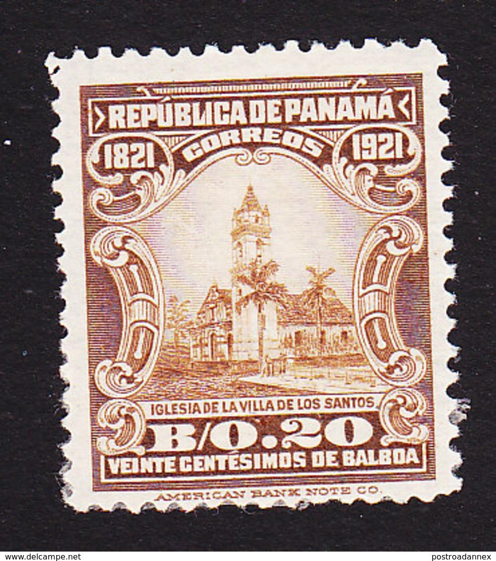 Panama, Scott #229, Mint Hinged, Villa De Los Santos Church, Issued 1921 - Panama