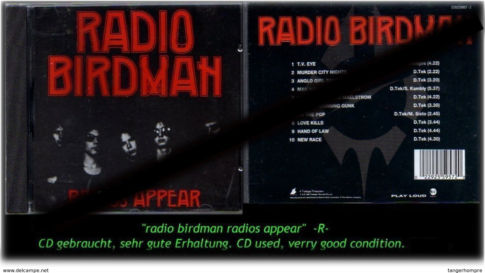 """""""RADIO BIRDMAN"""" RADIOS APPEAR -R- - Hard Rock & Metal"""