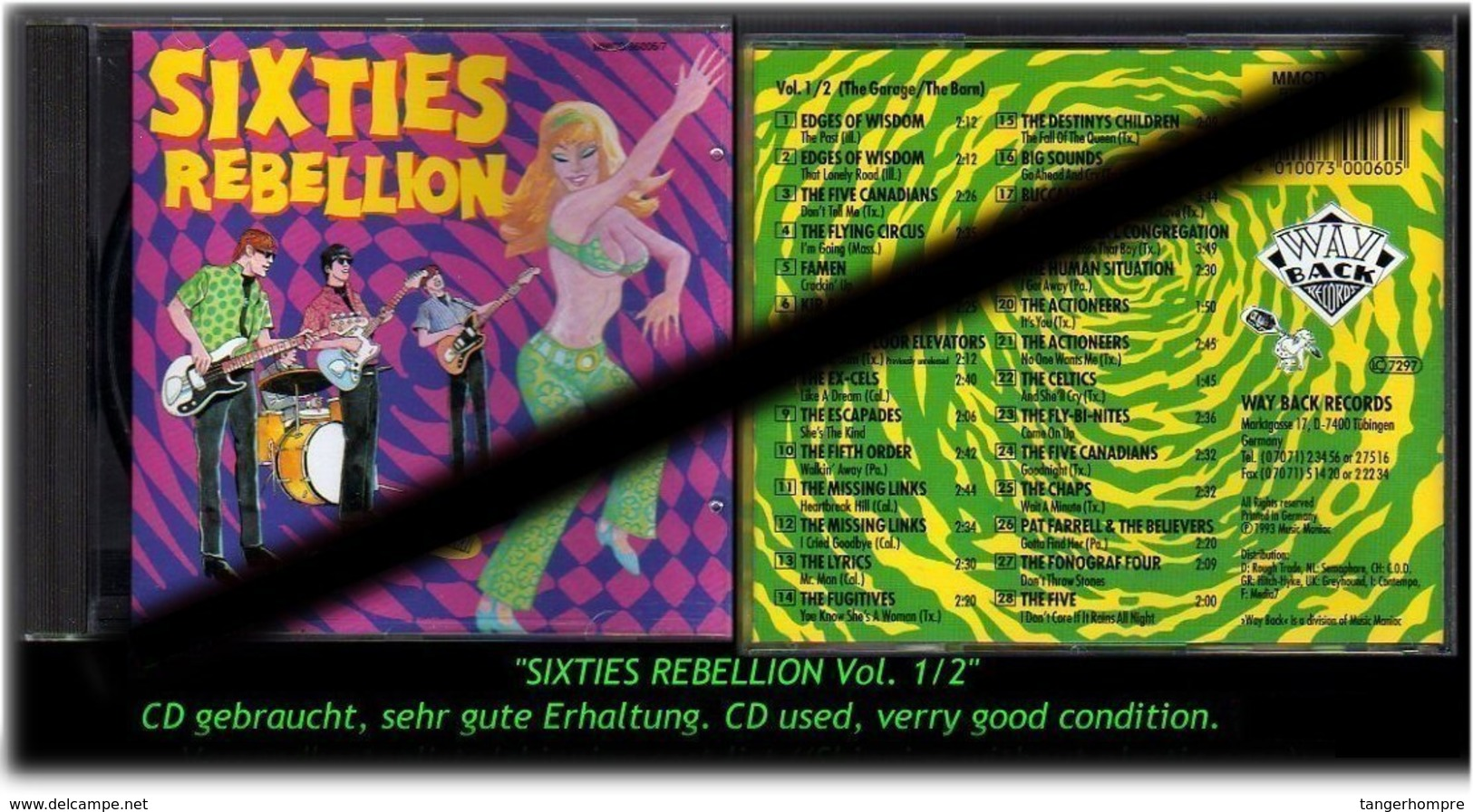"""SIXTIES REBELLION"" VOL 1/2 -1993- - Hard Rock & Metal"