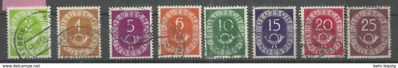 """BRD 123-126,128-131 """"Einzelmarken Aus Der Posthornausgabe """" Sauber Gestempelt"""" Mi.:15,20 € - [7] Federal Republic"""
