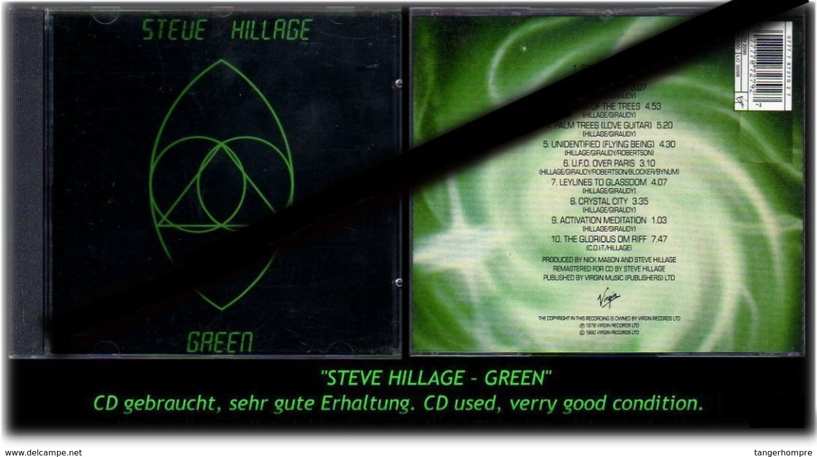 """STEVE HILLAGE"" GREEN -1990- - Hard Rock & Metal"