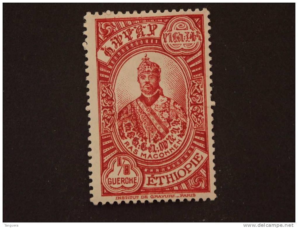 Ethiopie Ethiopia 1931 Série Courante Yv 199 MH * Charnière Scharnier - Ethiopie