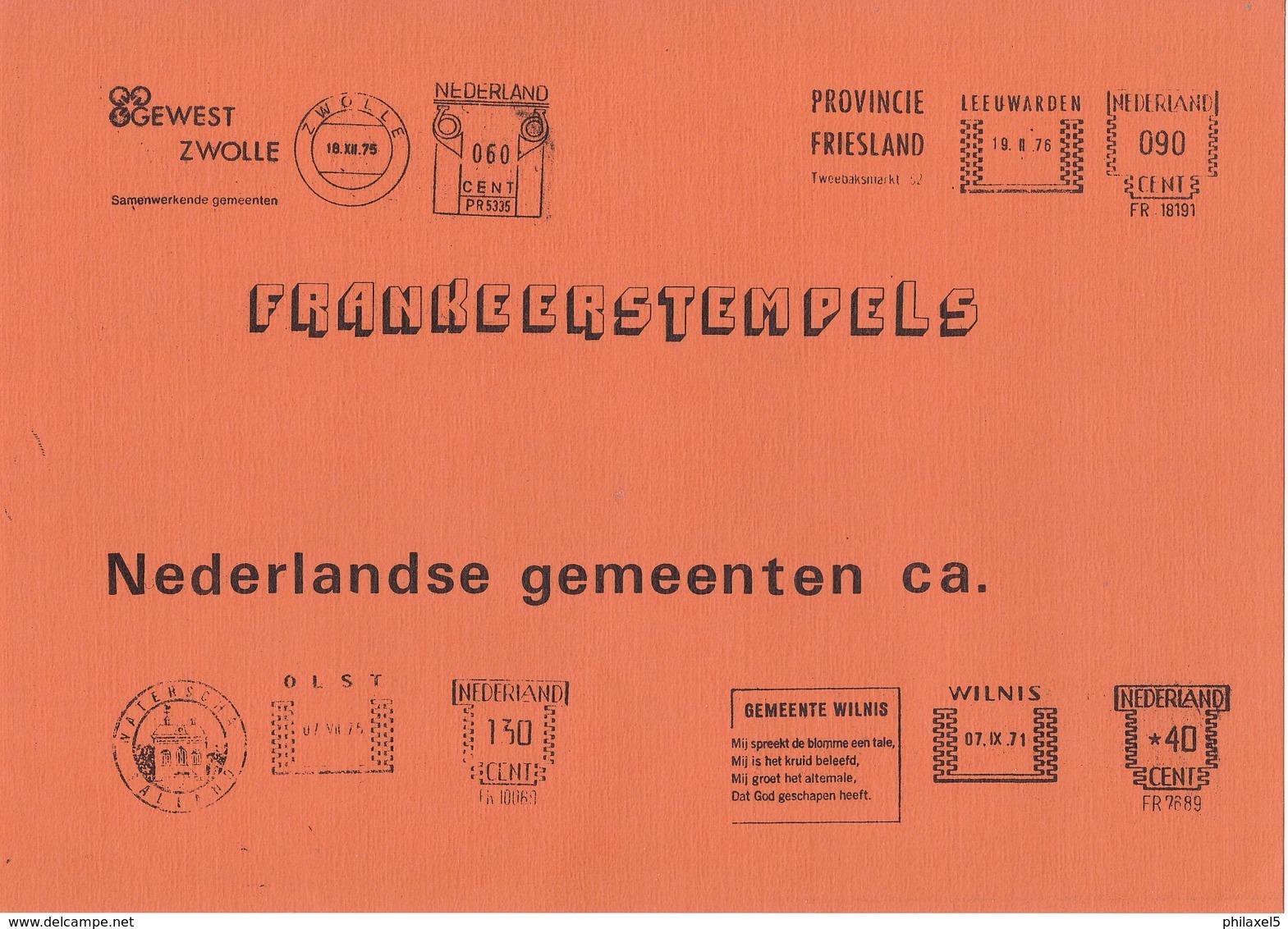 Nederland - D, Veenstra - Frankeerstempels Nederlandse Gemeenten C.a. - 1978/1979 - 2 Delen - Nieuw Exemplaar - Nederland