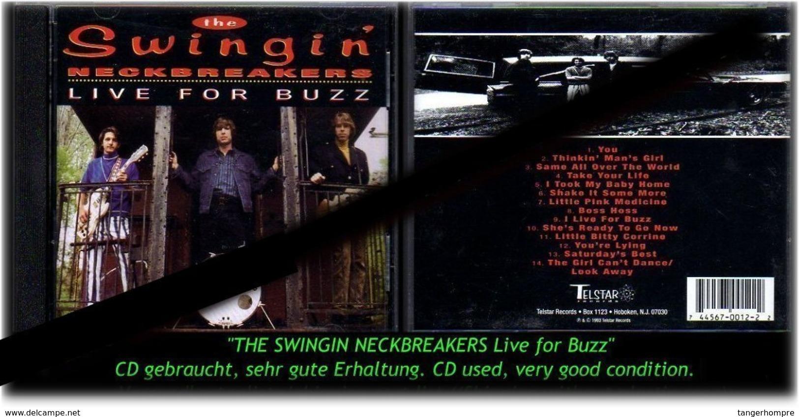 """THE SWINGIN NECKBREACKERS"" LIVE OF BUZZ -1993- - Hard Rock & Metal"