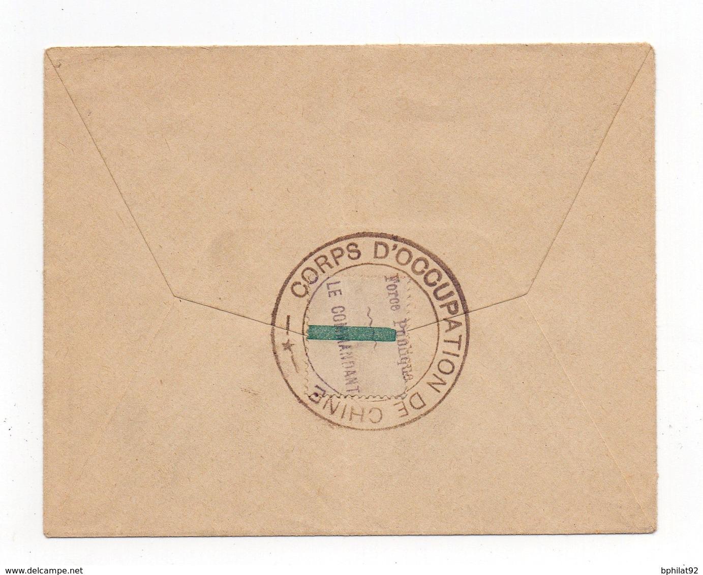 !!! PRIX FIXE : LETTRE DE TSIEN-TSIN DE 1906 POUR PARIS CACHET CORPS EXPEDITIONNAIRE DE CHINE - China (1894-1922)