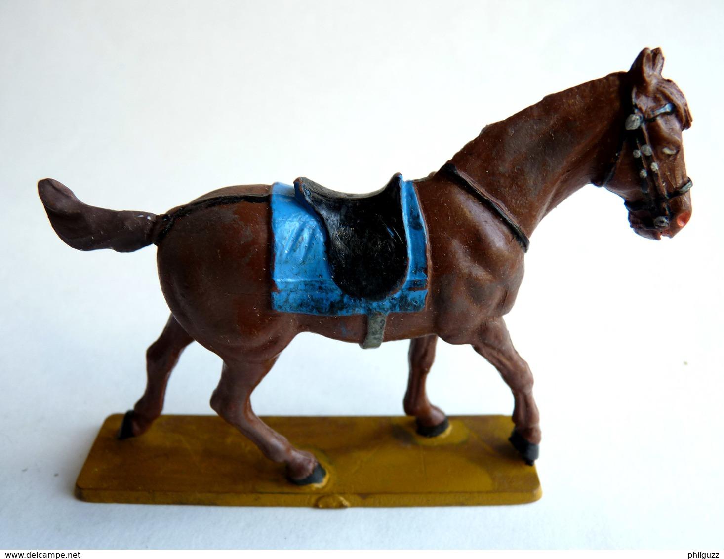 FIGURINE STARLUX 1972 CHEVAL NORDISTE MARRON Sans Cavalier (1) QUEUE RESTAUREE - Starlux
