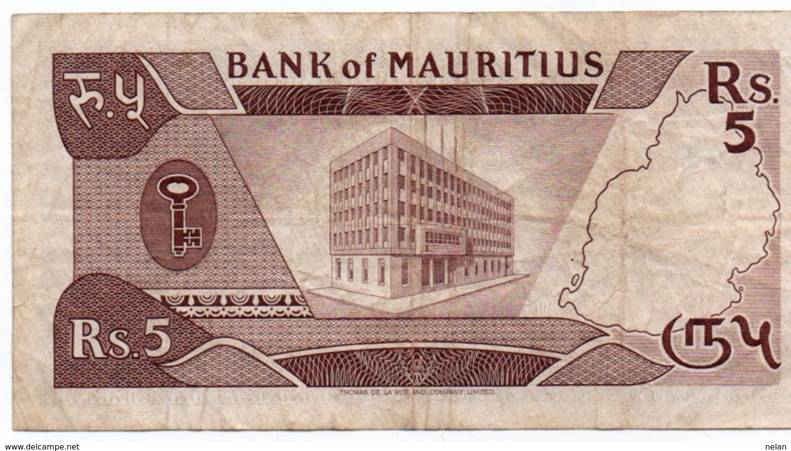ISOLE MAURITIUS 5 RUPEES 1985 P-34 (SERIE 122822) - Maurice