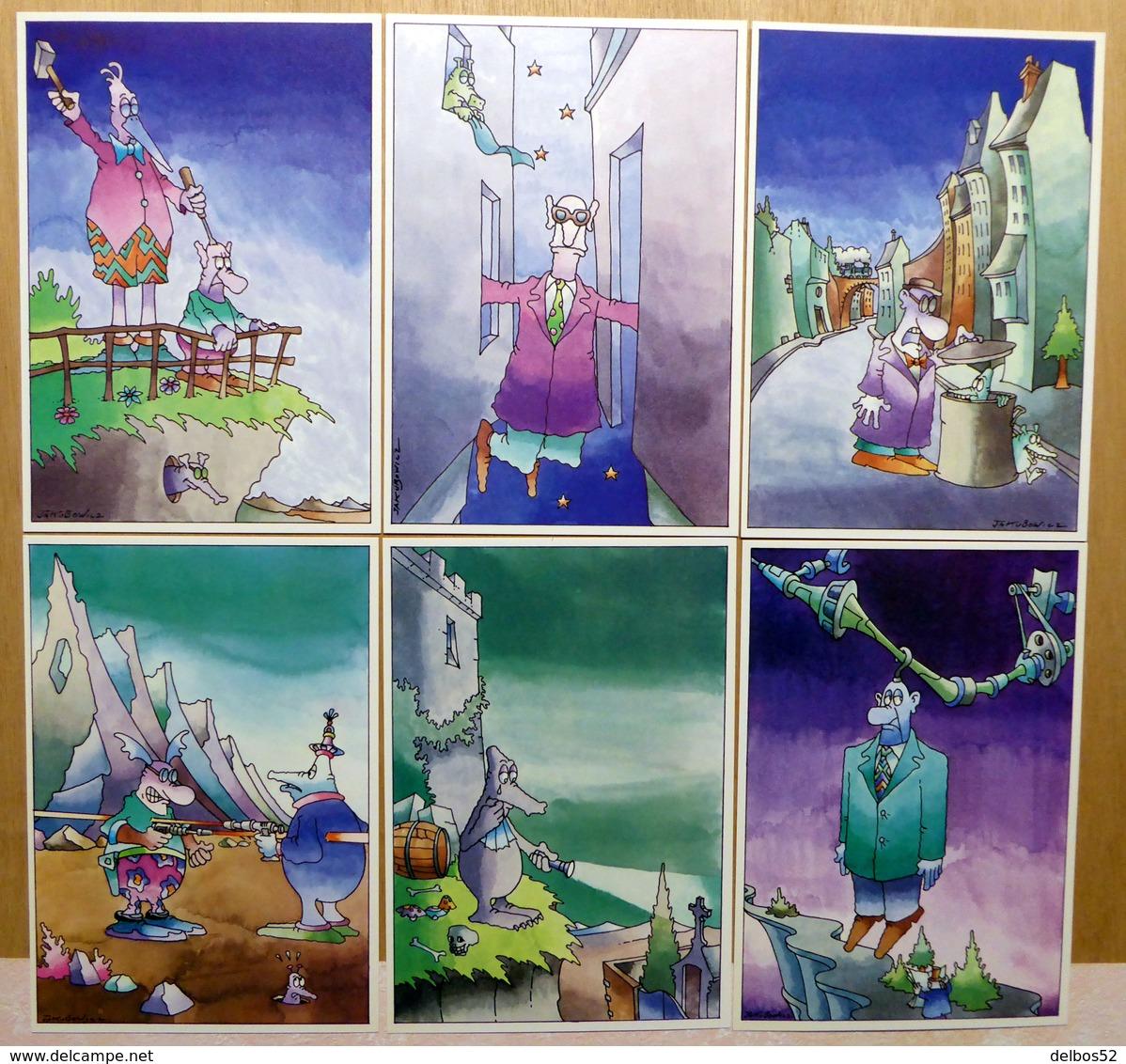 JAKUBOWICZ    : Lot De 6 Cartes Postales - 1984 - Comics