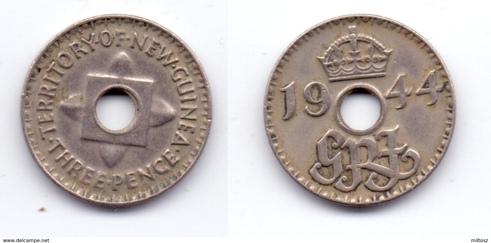 New Guinea 3 Pence 1944 - Papouasie-Nouvelle-Guinée