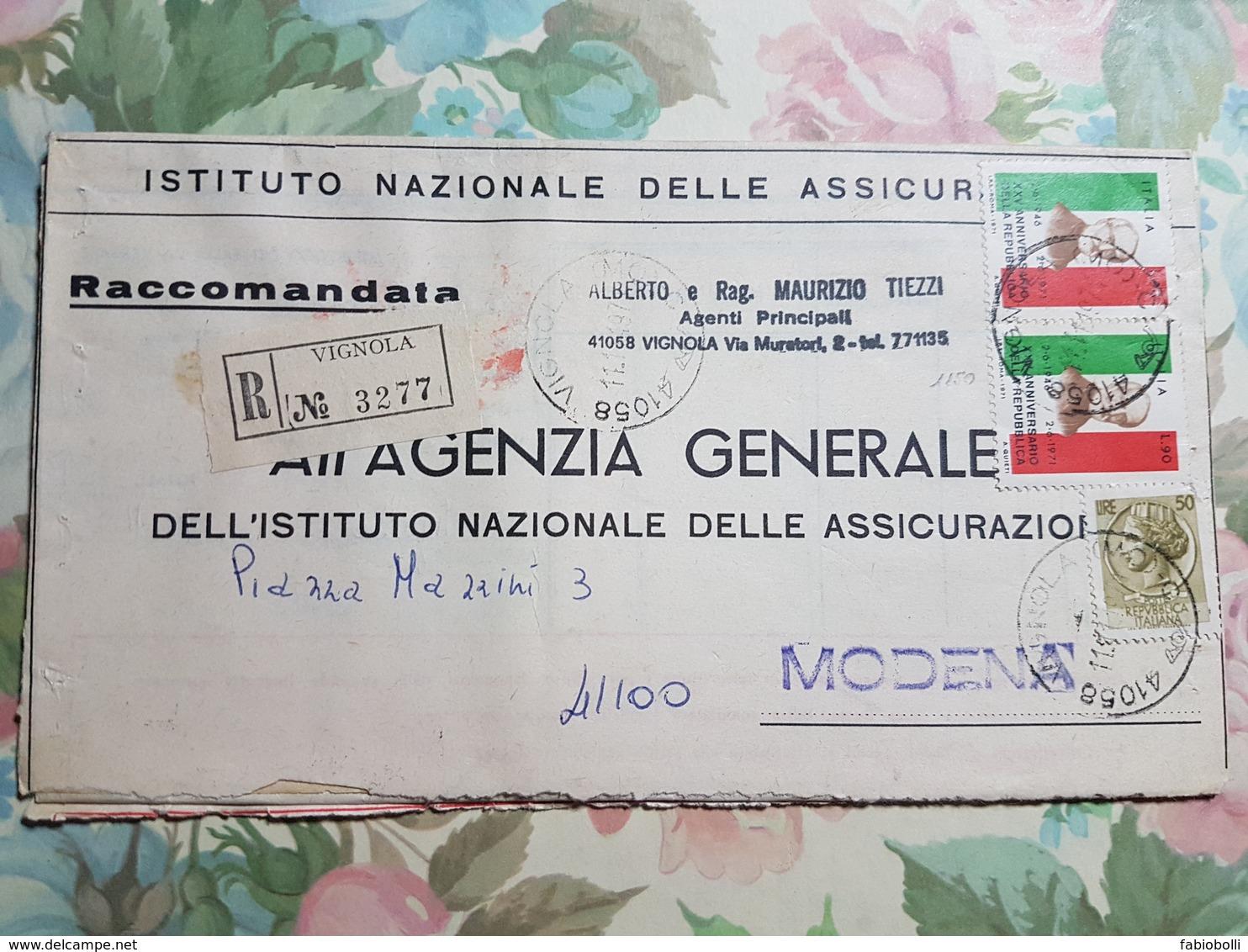 (1329) ITALIA STORIA POSTALE 1971 - 1971-80: Storia Postale