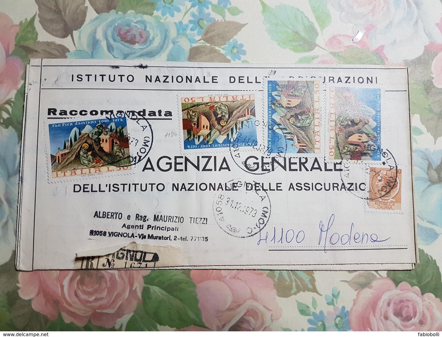 (1375) ITALIA STORIA POSTALE 1973 - 1971-80: Storia Postale