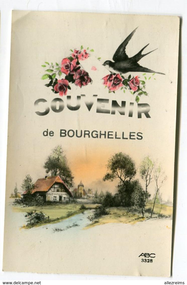 CPA  59  : BOURGHELLES    Souvenir Avec Hirondelle    A  VOIR  !!!! - Other Municipalities