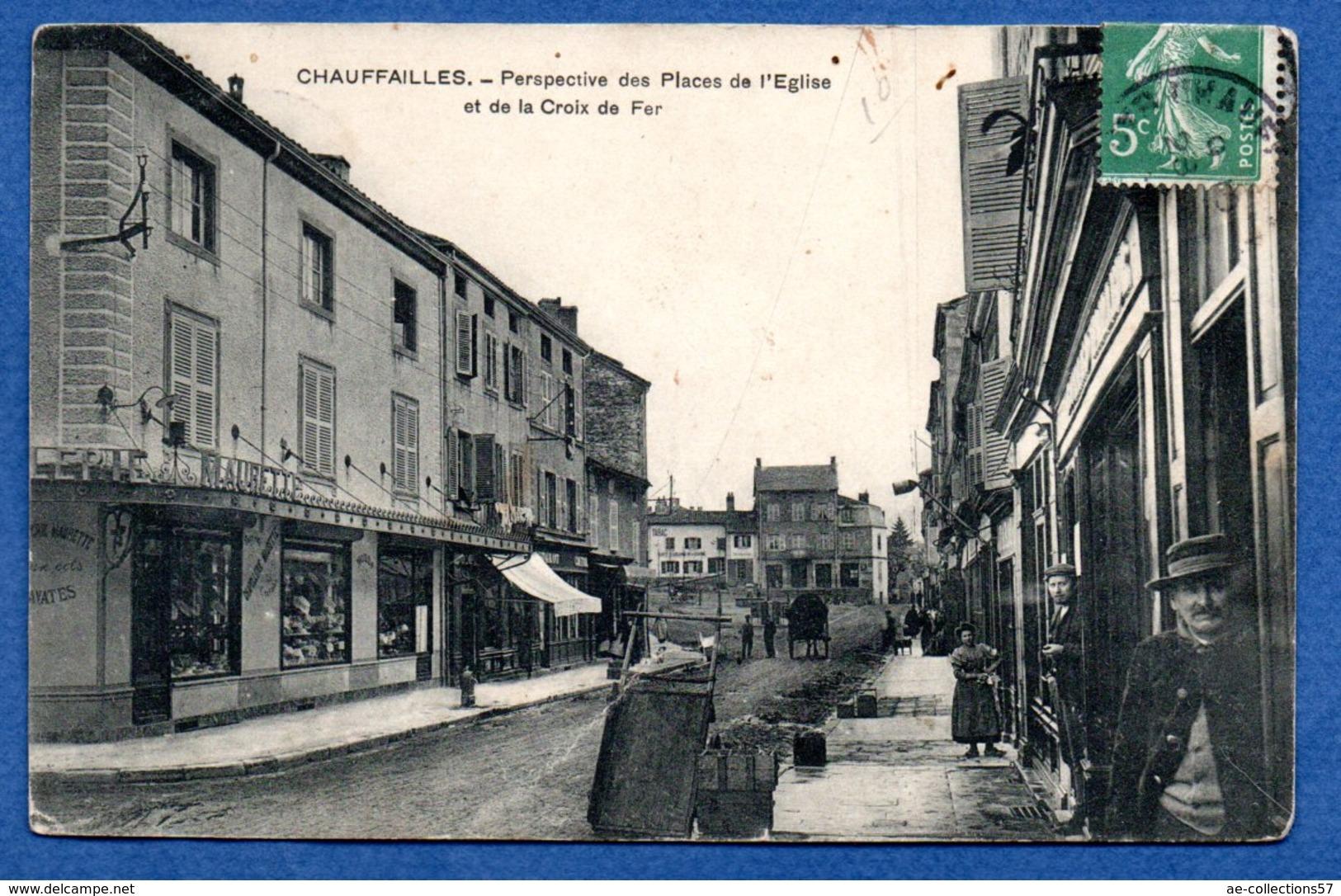 Chauffailles  -  Place De L Eglise - Autres Communes